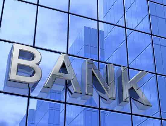 Bankgebäude aus Glas