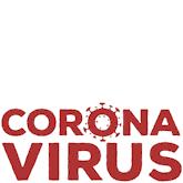 "Roter Text ""Corona Virus"""