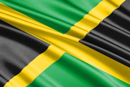 Flagge von Jamaika (Ausschnitt