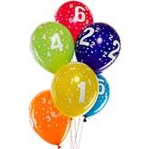 Luftballons von 1 bis 6