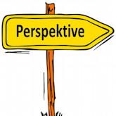 Schild mit der Aufschrift Perspektive