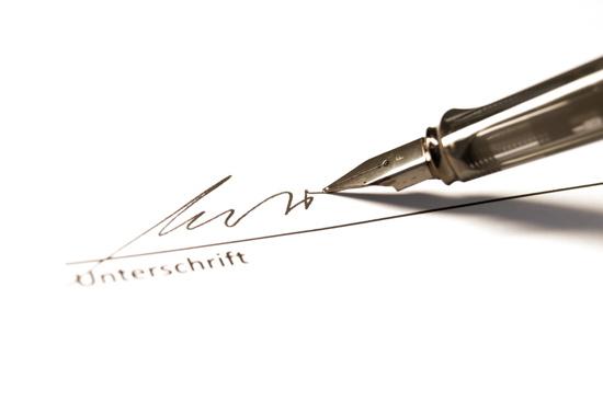 Abbildung einer Unterschrift