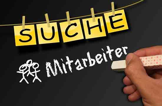 """Tafel """"Suche Mitarbeiter"""""""