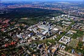 Luftbild der MHH