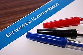 Zettel mit Schrift Barrierefreie Kommunikation