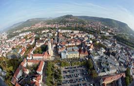 Panoramasicht auf die Stadt Jena