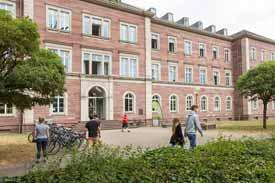 Das Hauptgebäude der PH Karlsruhe