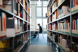 Bibliothek auf dem Campus Wilhelminenhof