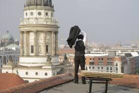 Fotoshooting auf den Dächern der Charlottenstraße.