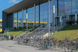 Außenansicht des Audimax' der Uni Lübeck