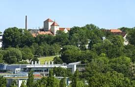 Blick auf den Campus des Wissenschaftszentrums Weihenstephan.