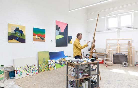 Künstlerische Klasse an der Kunstakademie Münster
