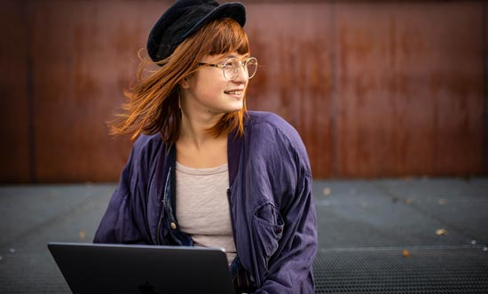 Eine Studierende der Jade-Hochschule.