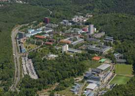 Campus der Hochschule des Saarlandes