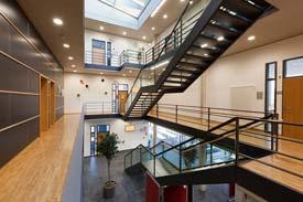 Das Gebäude der Biotechnologie der Hochschule Biberach