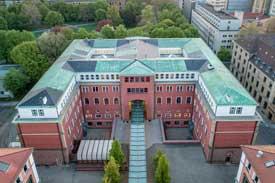 Die HFT Stuttgart aus der Luft betrachtet