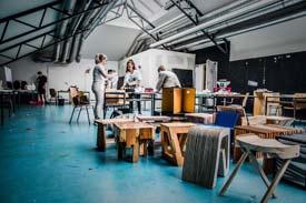 Eine Werkstatt der HFT Stuttgart