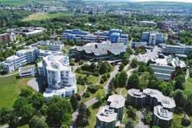 Luftbild der Universität Trier