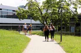 Blick auf die Mensa auf dem Campus Sigmaringen