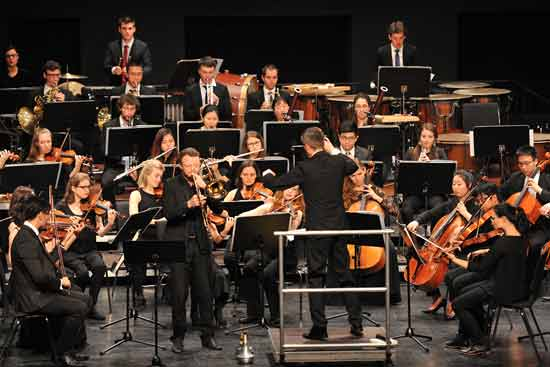 Das Orchester der Hochschule für Musik Trossingen