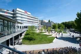 Südlicher Haupteingang Uni Ost - Universität Ulm