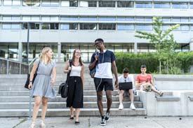 Studierende an der Technischen Hochschule Ulm