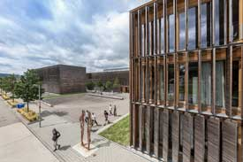 Außenaufnahme des Standortes Burren der Hochschule Aalen