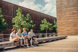 Auf dem Campus des Standortes Burren der Hochschule Aalen