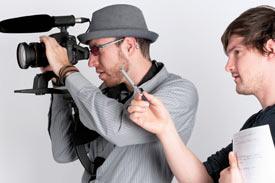 2 Studenten filmen
