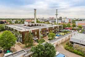 Luftbild der Hochschule RheinMain