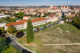 Luftbild der Hochschule mit Blick nach Norden