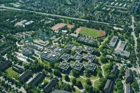 Luftbildaufnahme vom Campus der Helmut-Schmidt-Universität