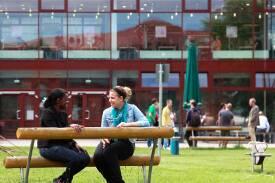 Blick über den Campus der FH Brandenburg