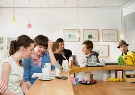 Das Café Lu im Speicher XI.