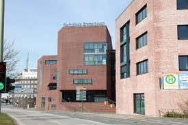 Straßenansicht der Hochschule Bremerhaven