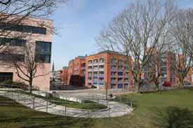 Blick über den Campus der Hochschule Bremerhaven