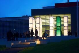 Der Campus bei Nacht