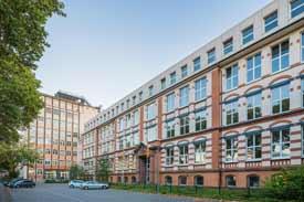 Die historische Fassade der FH Dortmund.
