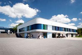 Das Kommunikationsgebäude des Umwelt-Campus Birkenfeld