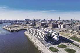 Vogelperspektive auf die HafenCity