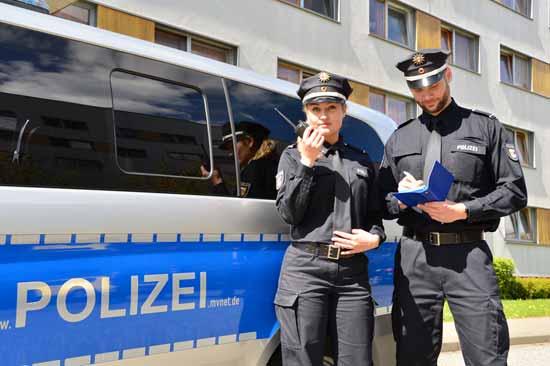Polizei-Nachwuchs von der Fachhochschule