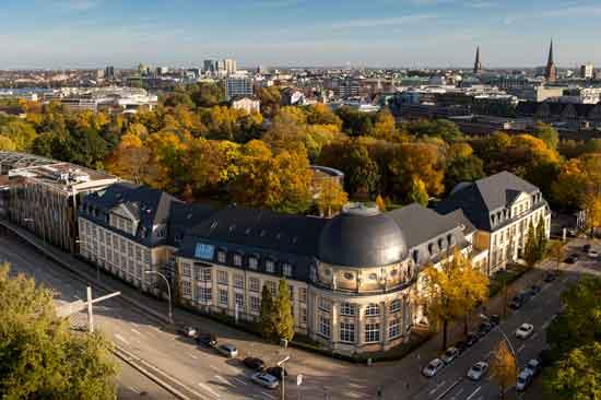 Der Campus der Bucerius Law School aus der Luft