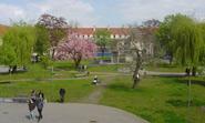 Innenhof des Campus der Fachhochschule Erfurt.