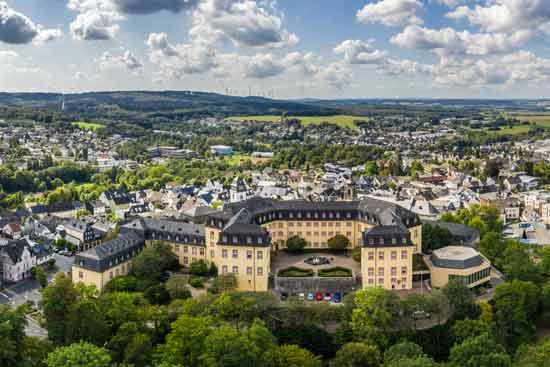 Die Hochschule der Deutschen Bundesbank aus der Luft