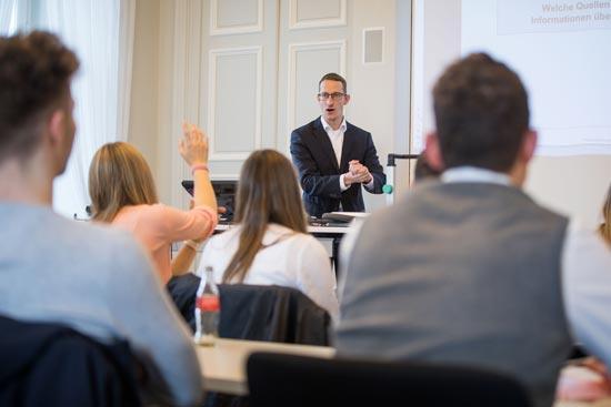 Eine Vorlesung an der Hochschule der Deutschen Bundesbank