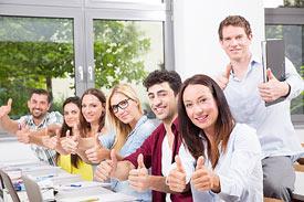 Lehrveranstaltung mit Studenten der Diploma Hochschule
