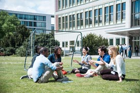 Students in the backyard of the ESMT