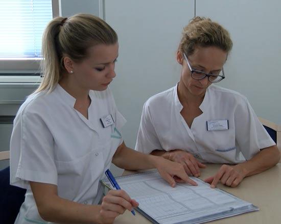 Studierende im Studiengang Pflege und Gesundheit