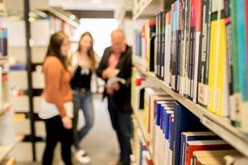 In der Bibliothek der HSVN