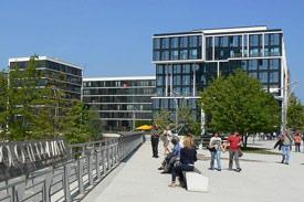 BSP Campus Hamburg – Sicht auf das Hochschulgebäude